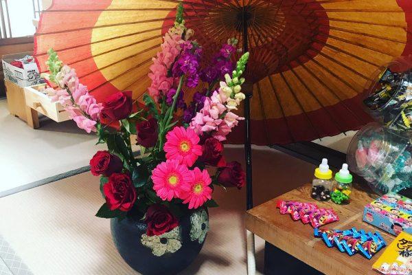駄菓子と和傘
